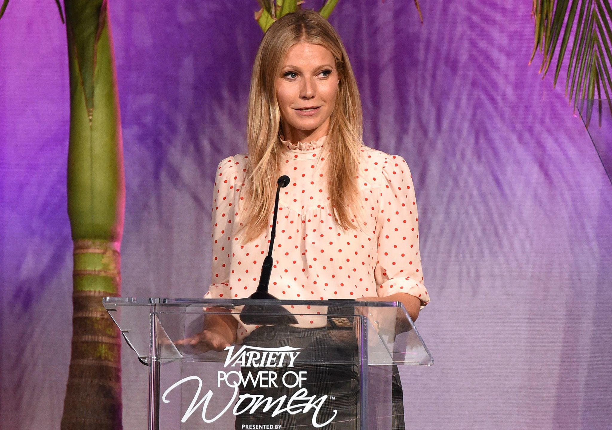 Gwyneth Paltrow took turns with Gal Gadot, Blake Shelton, Viola Davis, Nikki Reed, Arianna Huffington and 16-year-old Ava Cardoso-Smith introducing the honorees at Variety's Power of Women luncheon.
