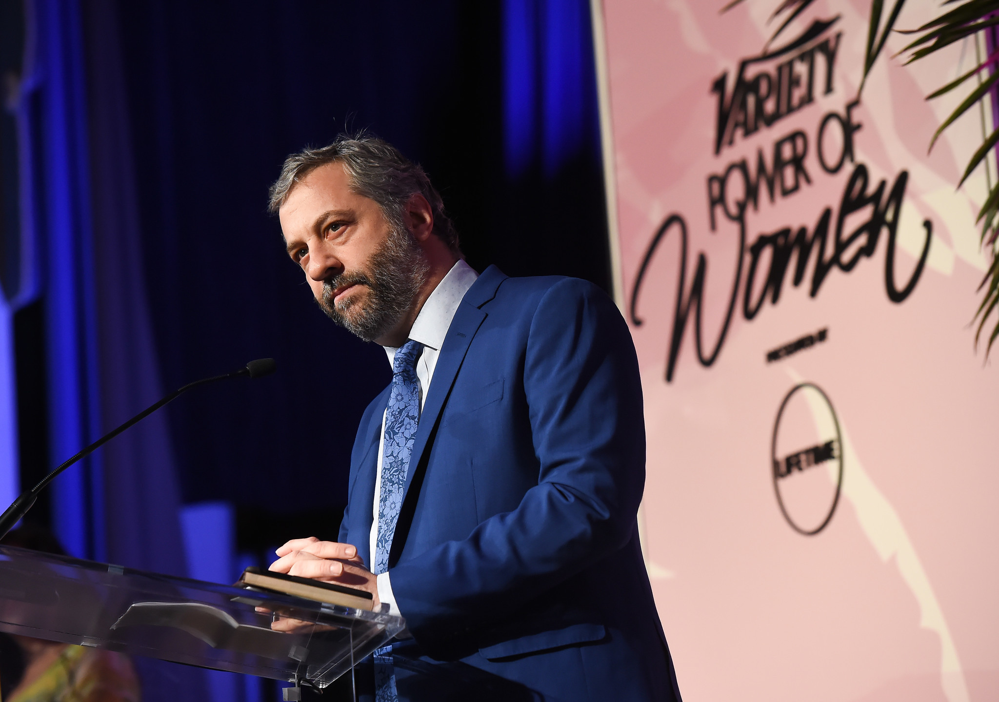 Judd Apatow onstage during Variety's Power of Women luncheon in Beverly Hills.