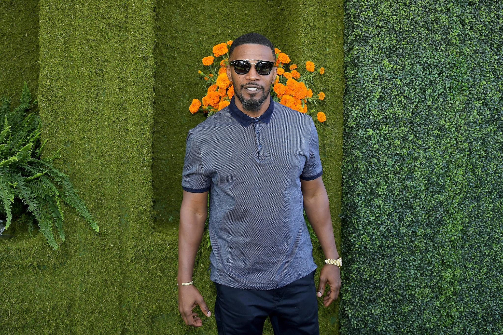 Jamie Foxx at the eighth annual Veuve Clicquot Polo Classic.