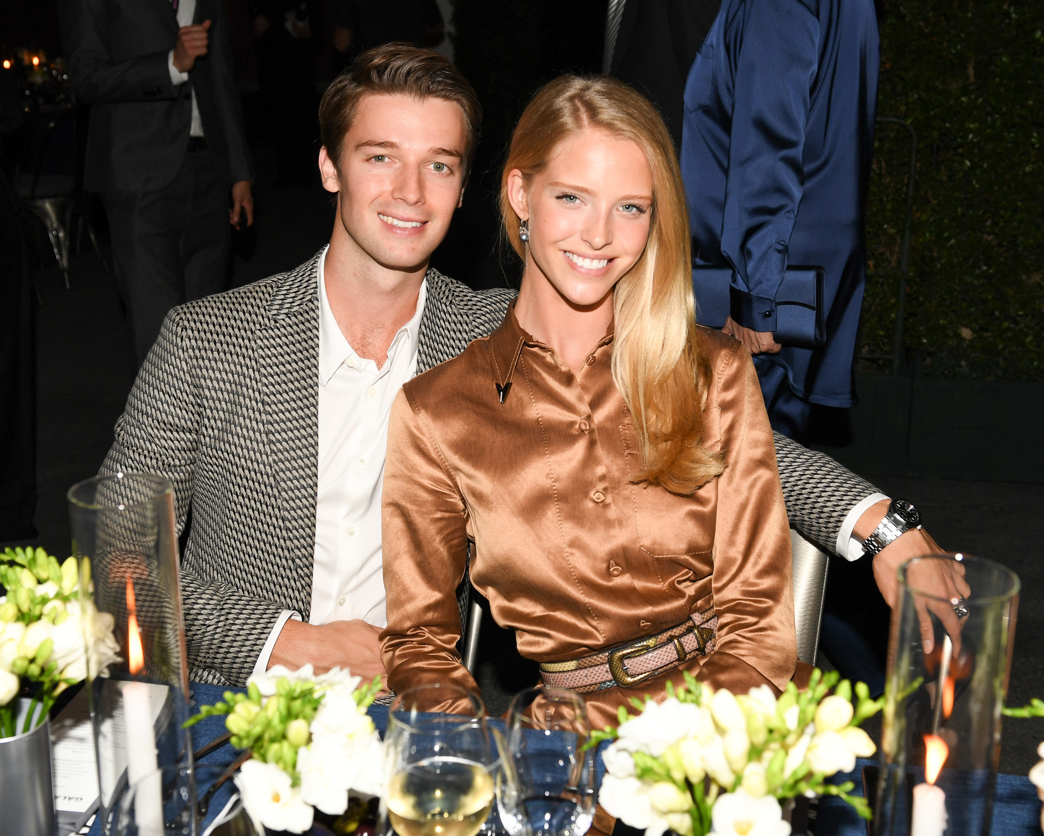 Patrick Schwarzenegger and Abby Champion were part of the star-studded crowd at the Hammer Museum gala.