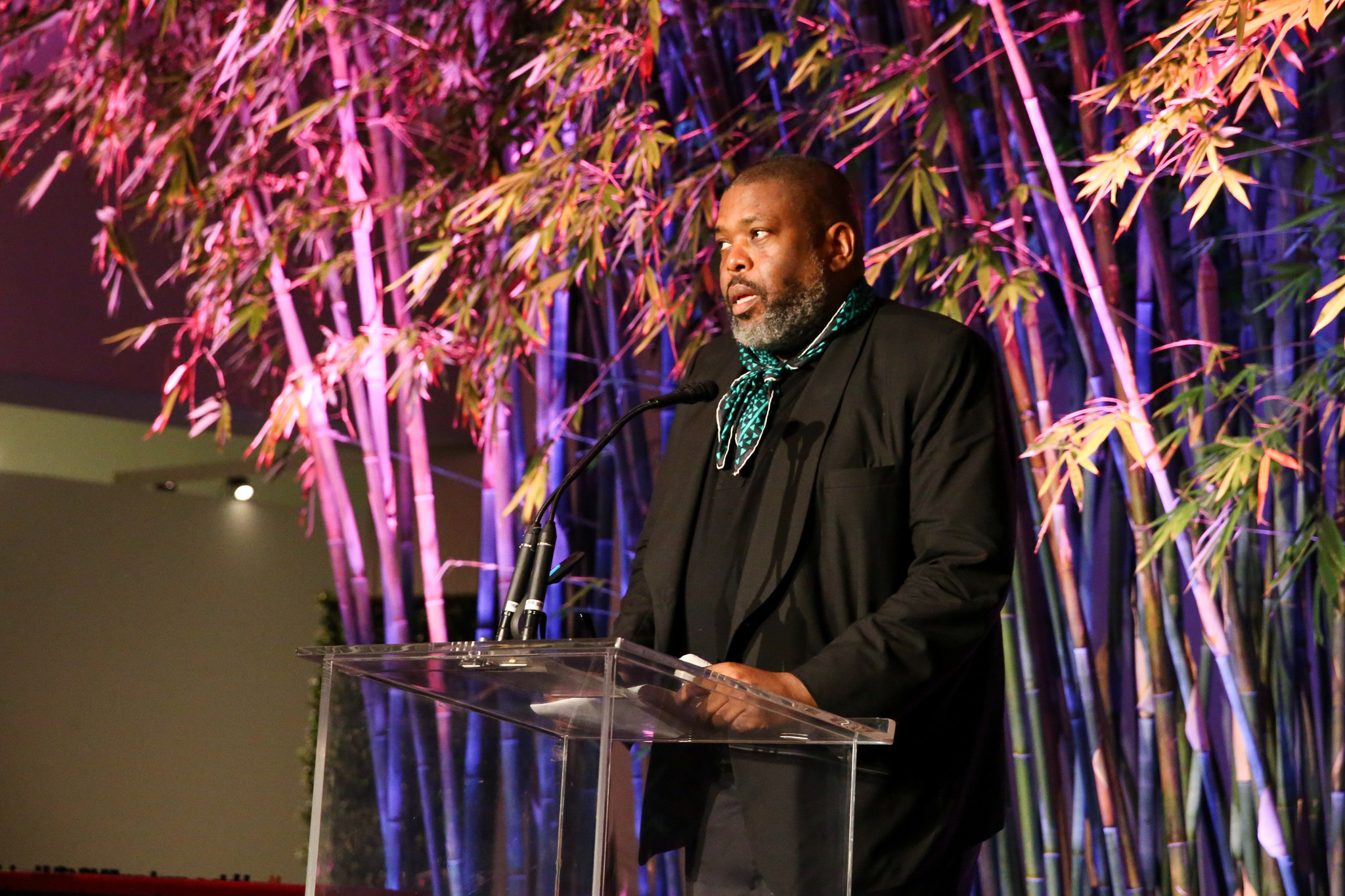 Honoree Hilton Als onstage during the Hammer Museum's annual gala.