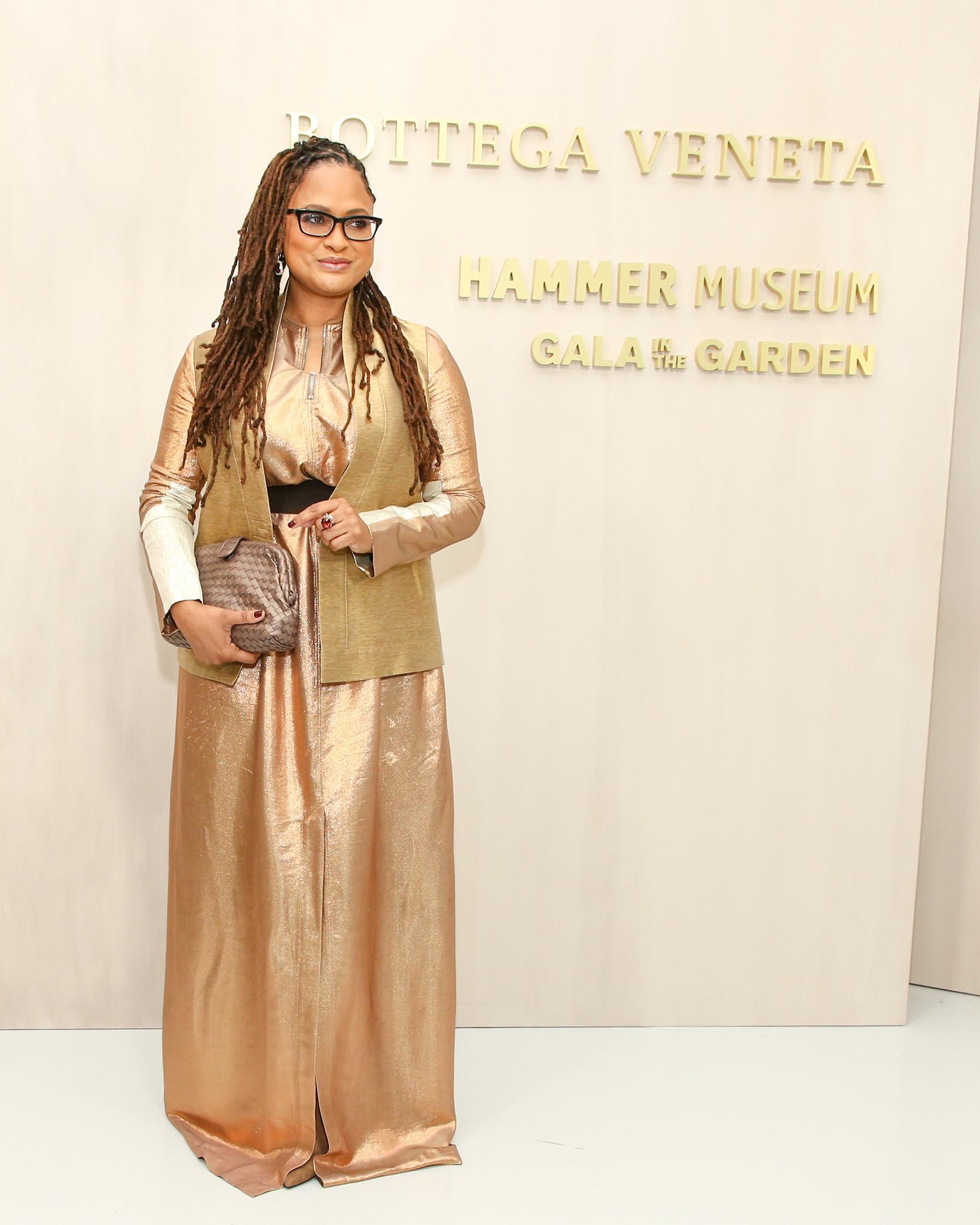 Honoree Ava DuVernay on Saturday at the Hammer Museum gala, which was sponsored by Italian fashion label Bottega Veneta.