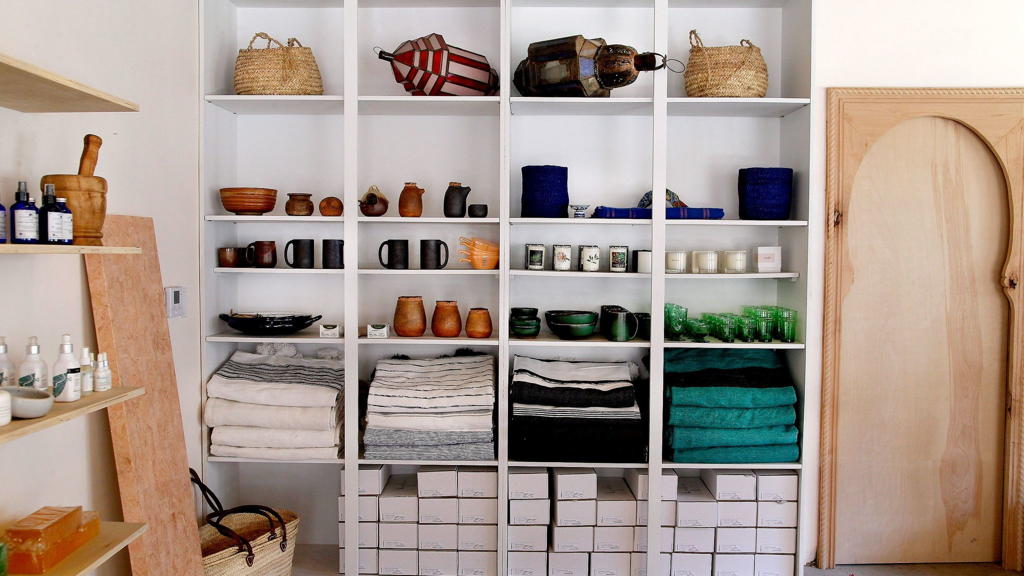 Some of the items on Marikoko's shelves.