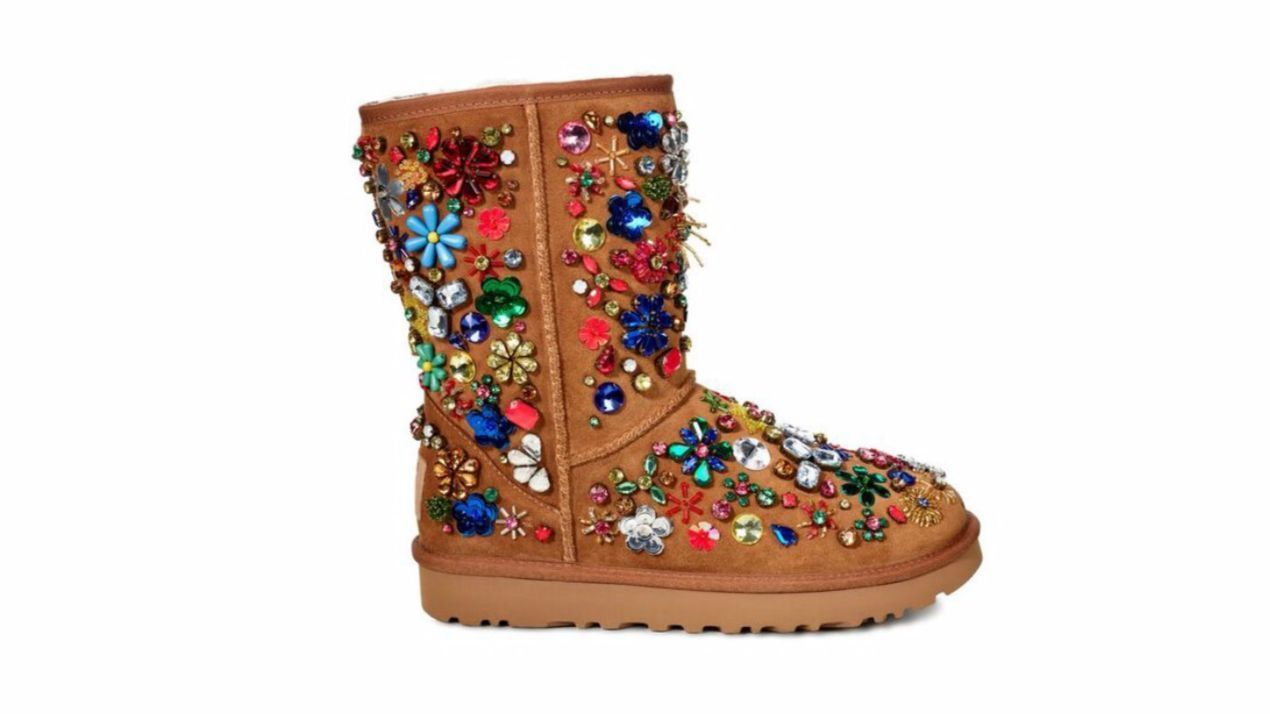 Ugg x Jeremy Scott dazzling, limited-edition beaded boots.