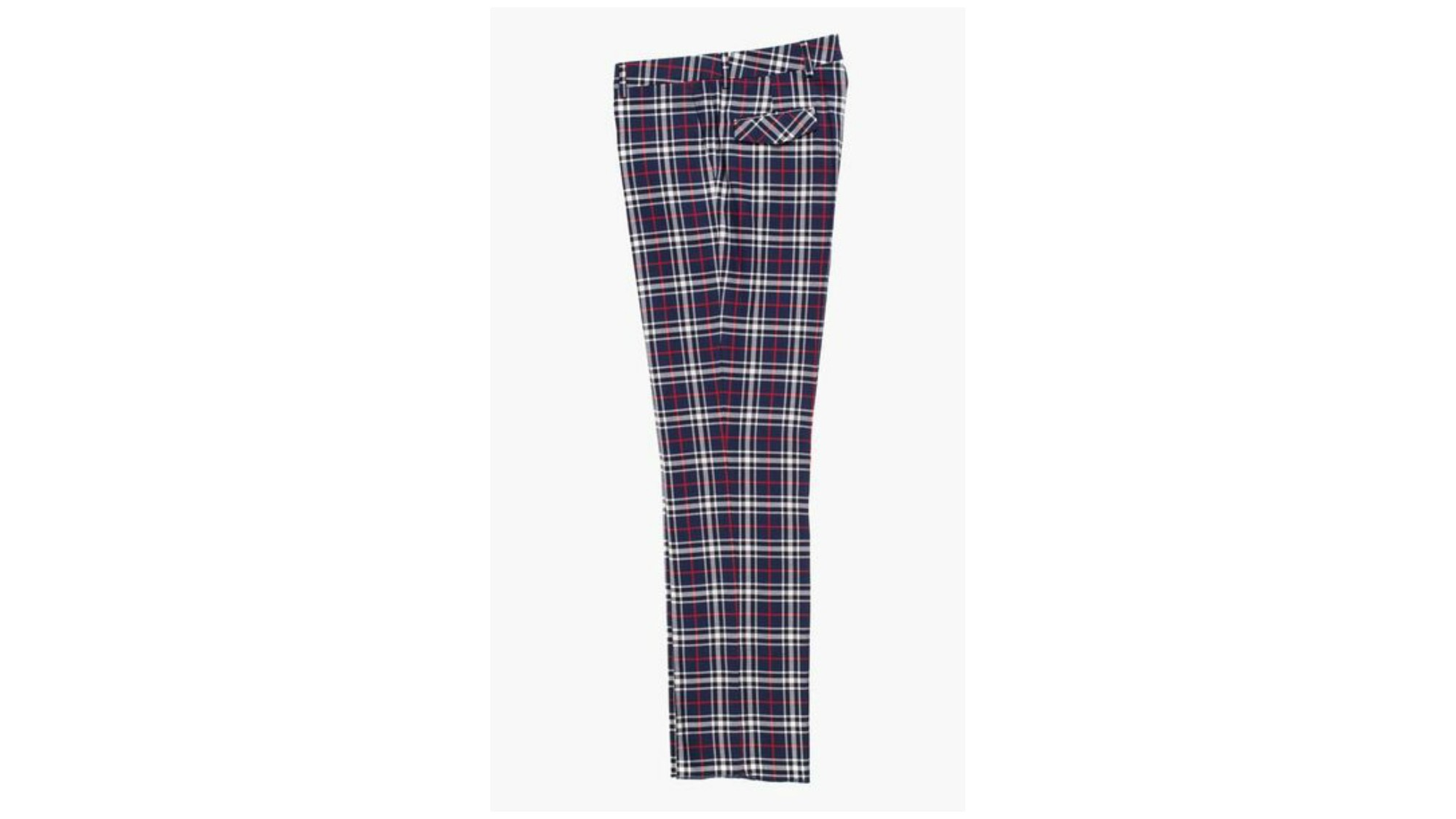 Roxherm's plaid cotton pants.