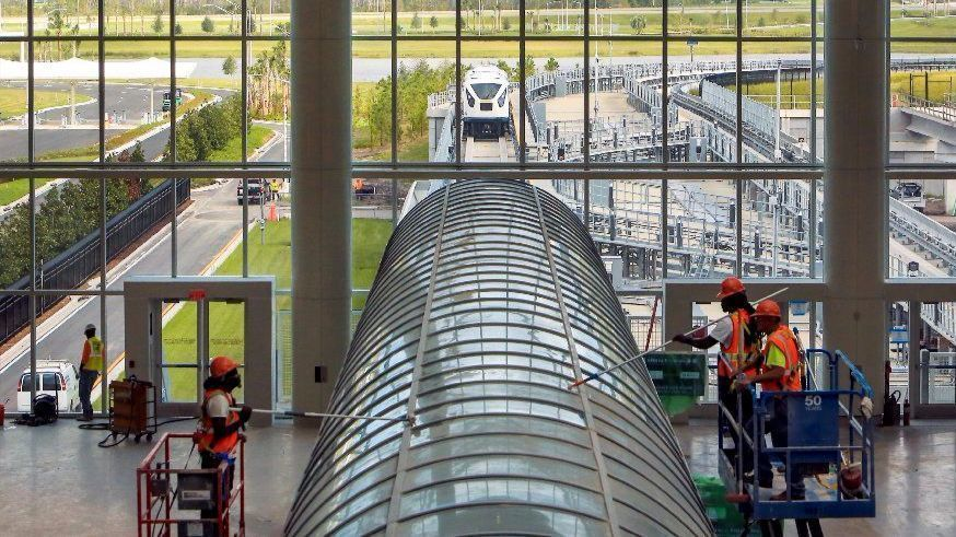 Orlando Airport Gives Peek At New Shuttle Train Parking
