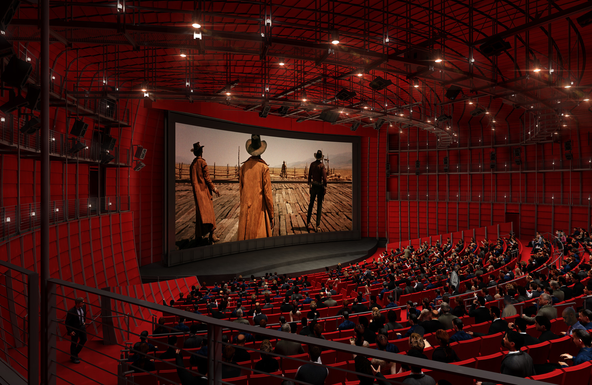 The interior of the 1,000-seat theater, in an artist's rendering.