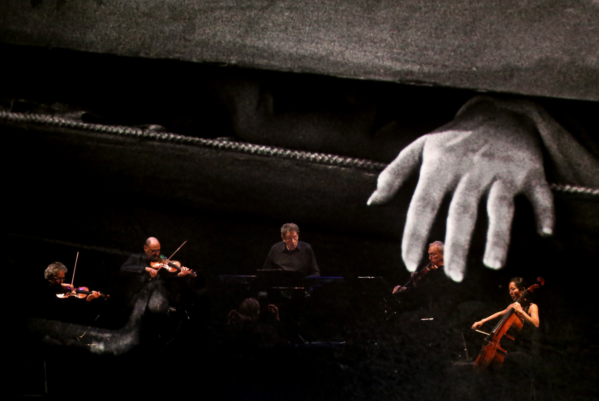 At times, the film's imagery overlaps with the musicians, to creepy effect.