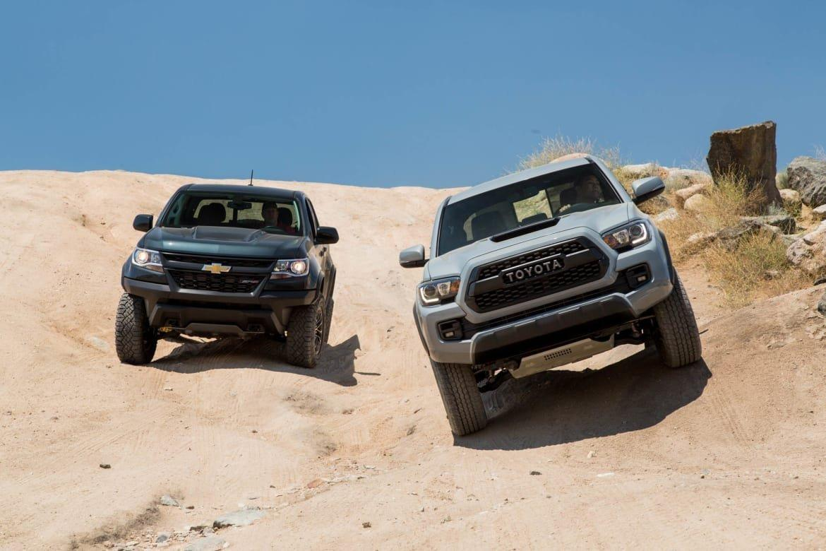 Off-road showdown: Toyota Tacoma TRD Pro squares off ...