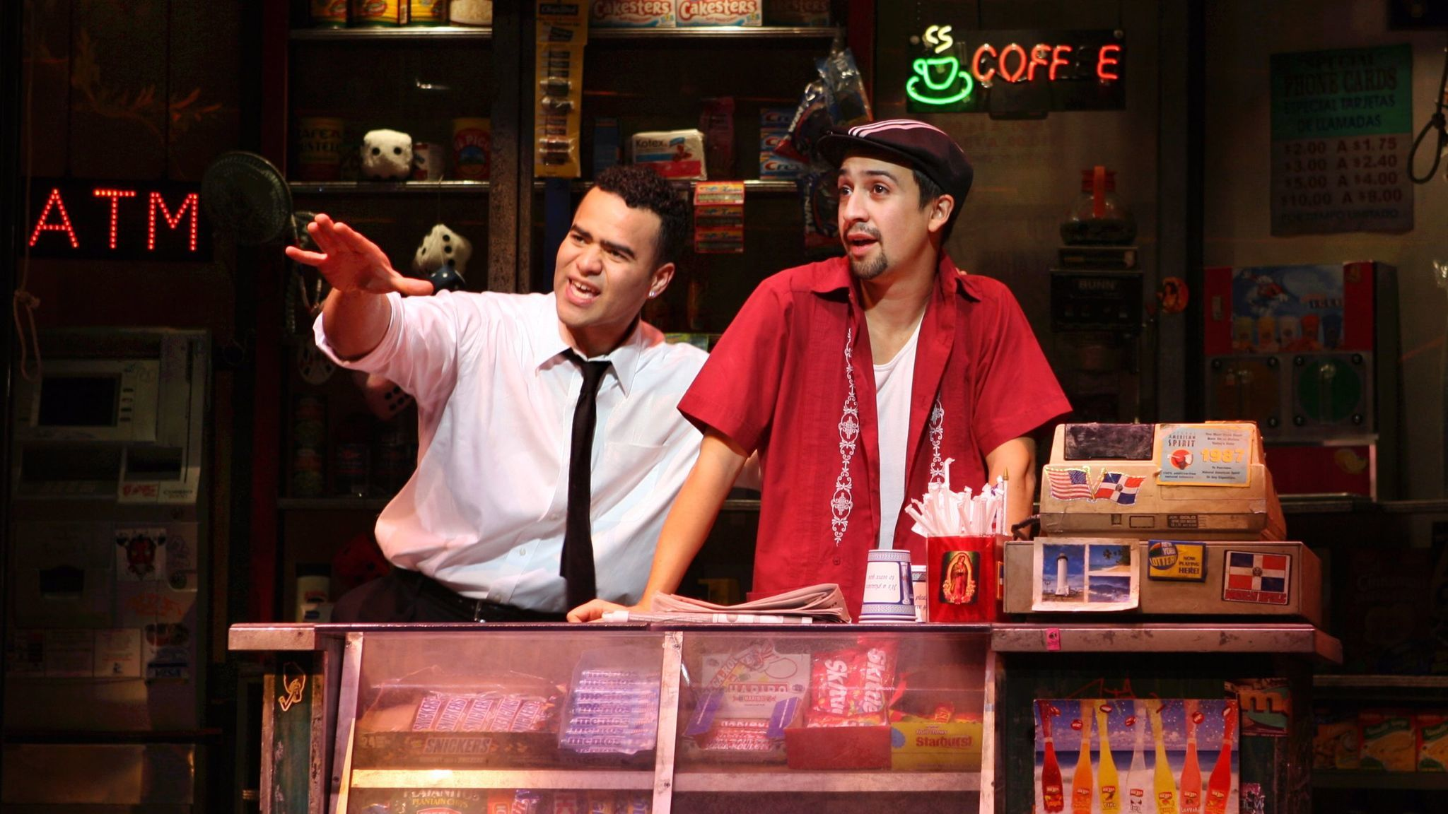 "Lin-Manuel Miranda, right, wrote the music and lyrics and starred in the stage version of ""In The Heights."""