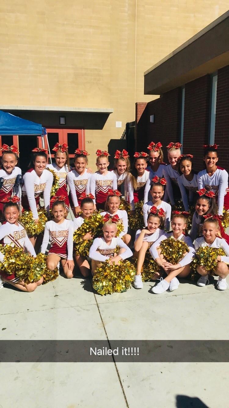 First time coaching pee wee cheerleaders