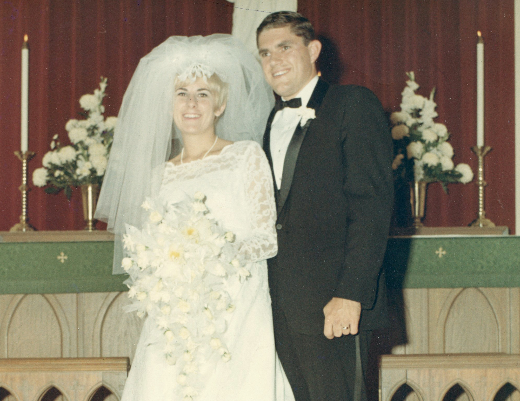 Eileen and Dave Castberg's wedding day.