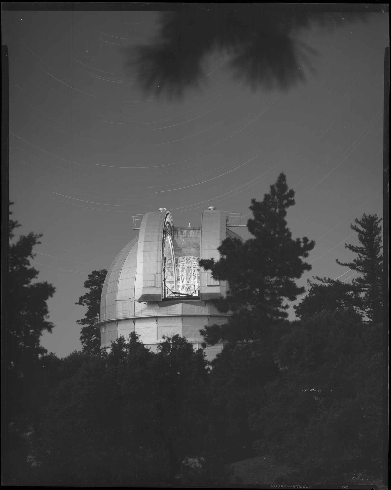 The 100-inch telescope dome at Mt. Wilson Observatory, seen in 1950.