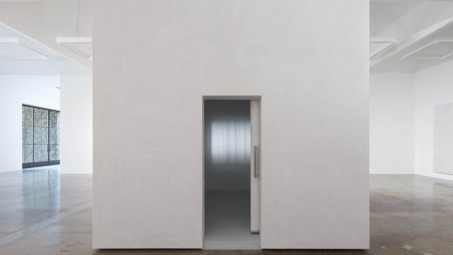 """A view of the exterior of """"The Cold Room"""" at Kayne Griffin Corcoran in Los Angeles."""