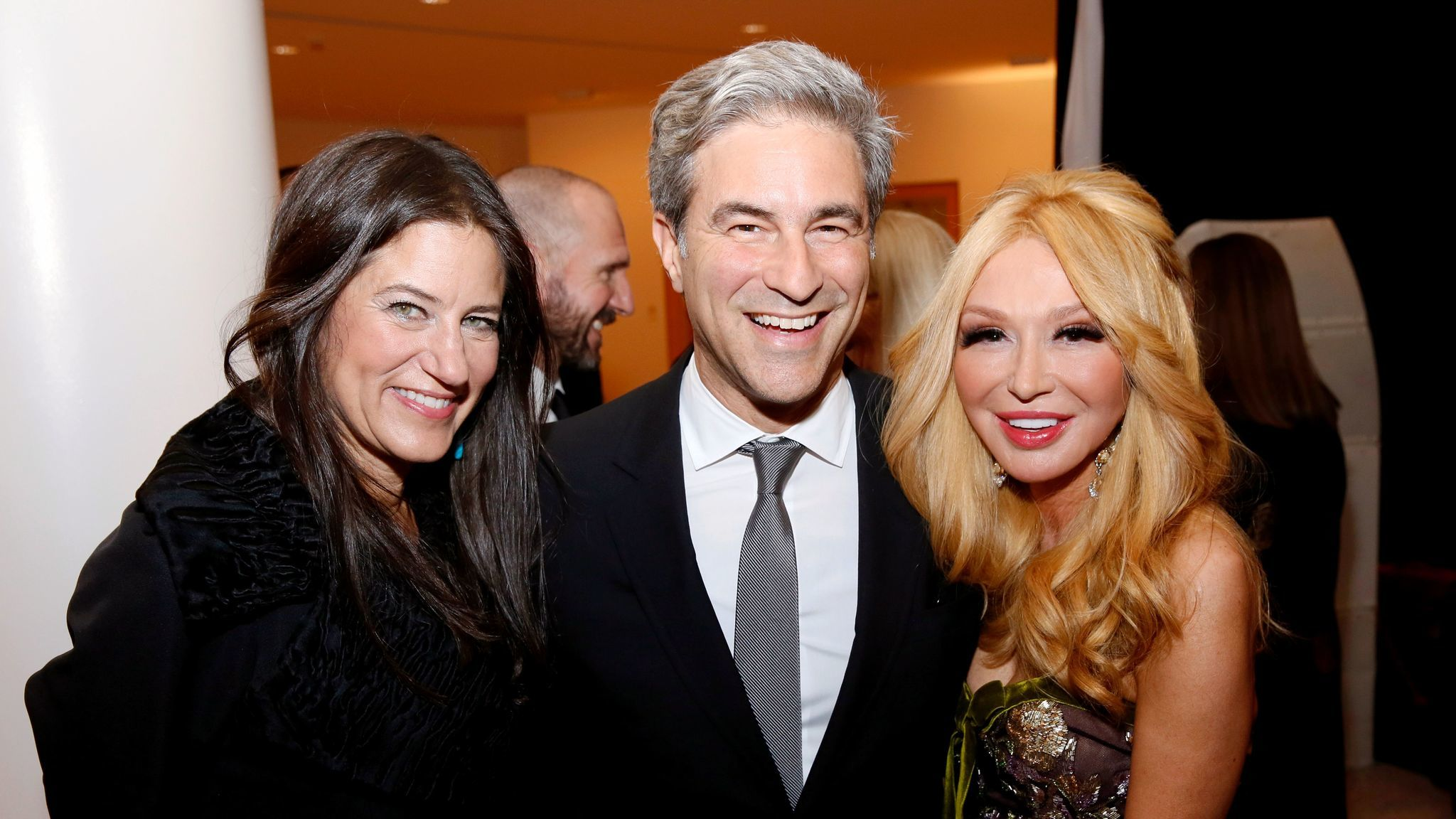 Katherine Ross, left, Michael Govan and Elizabeth Segerstrom at the South Coast Plaza Art, Excellence + Friendship, an evening with the Mariinsky Theatre Orchestra at Segestrom Center for the Arts on Oct. 30.