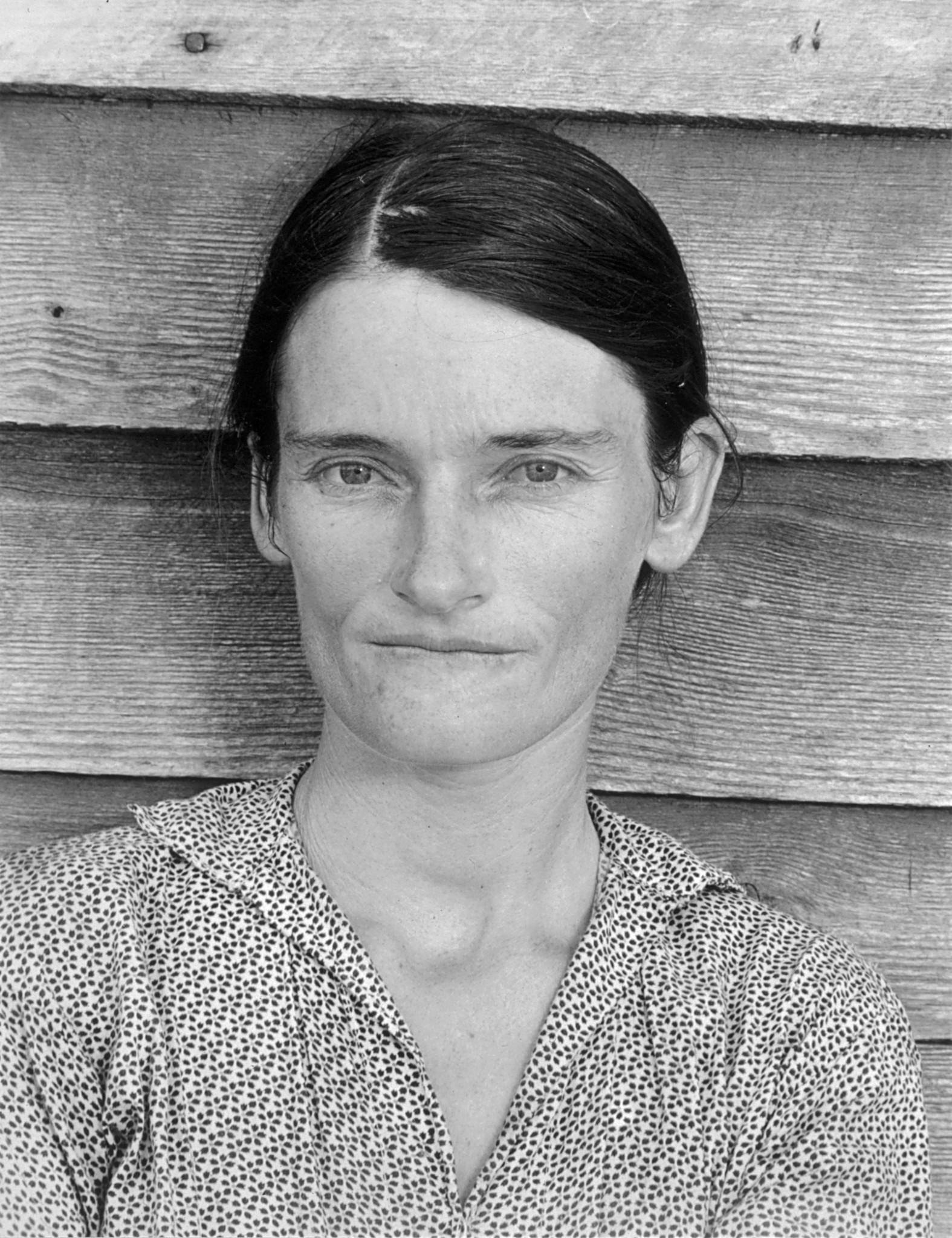 """""""Allie Mae Burroughs, Wife of a Cotton Sharecropper,"""" by Walker Evans was shot in 1936 in Hale County, Ala."""