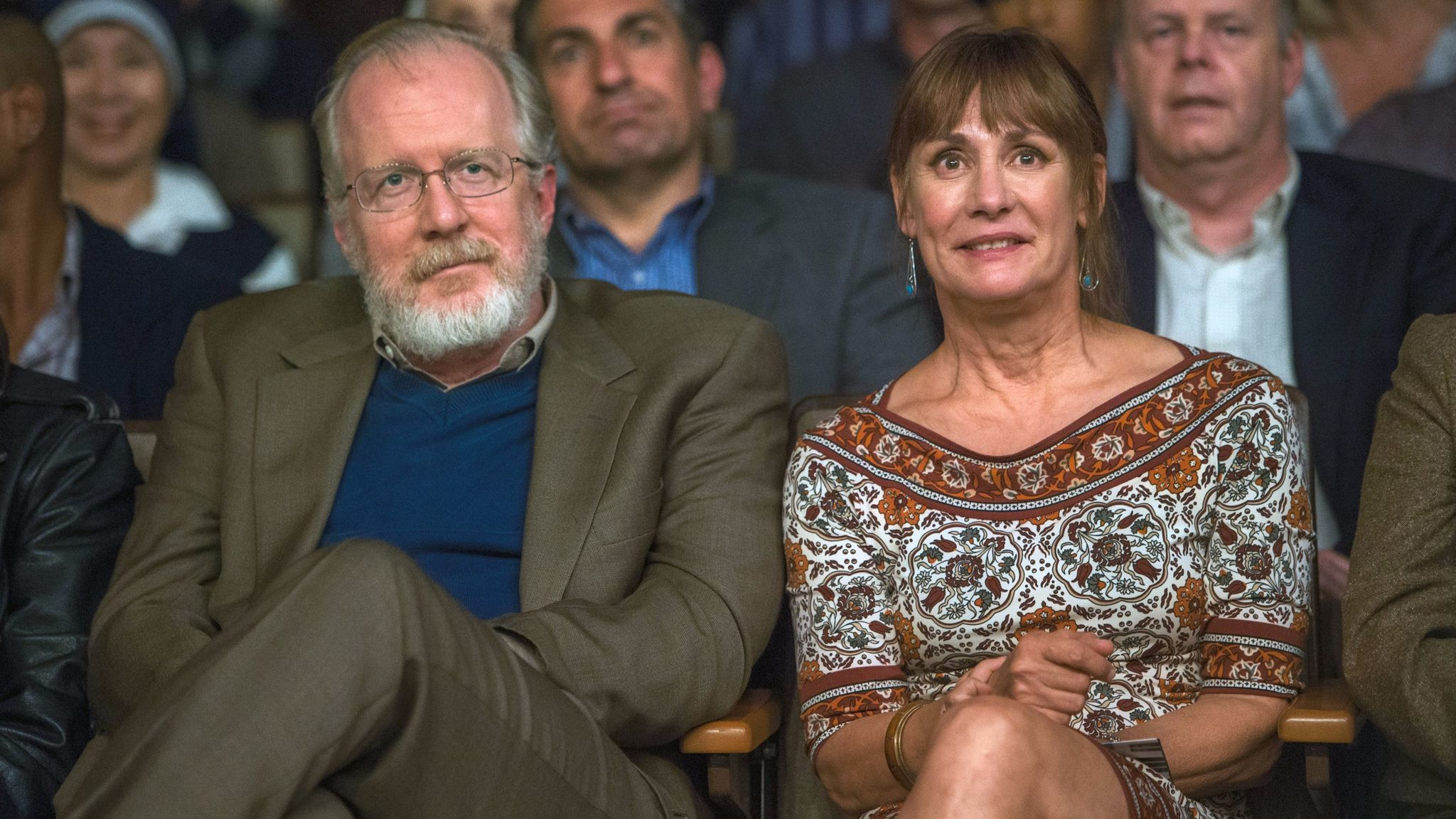 """Tracy Letts and Laurie Metcalf in a scene from """"Lady Bird."""""""