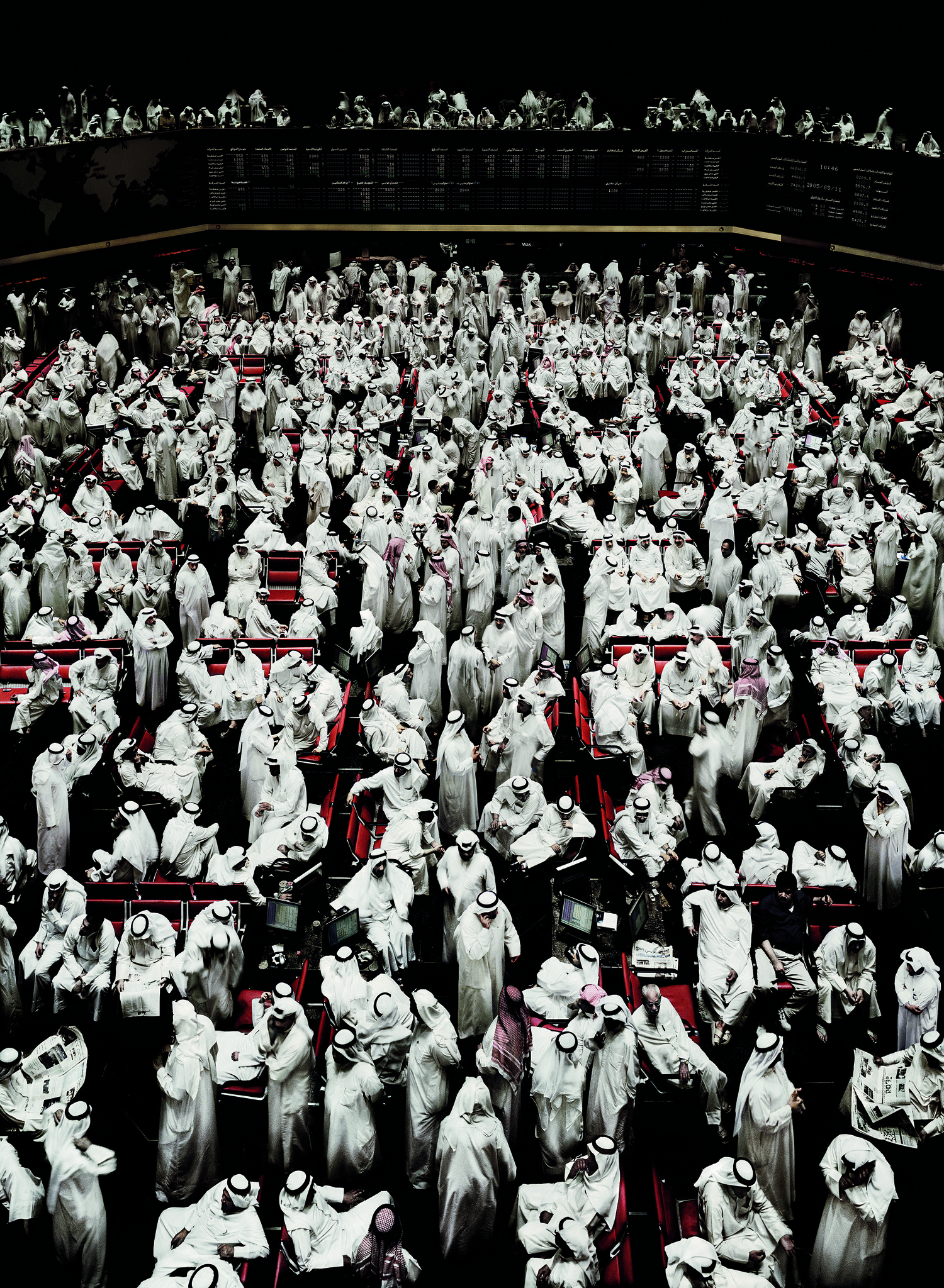 """""""Kuwait Stock Exchange I, 2007"""" by Andreas Gursky."""