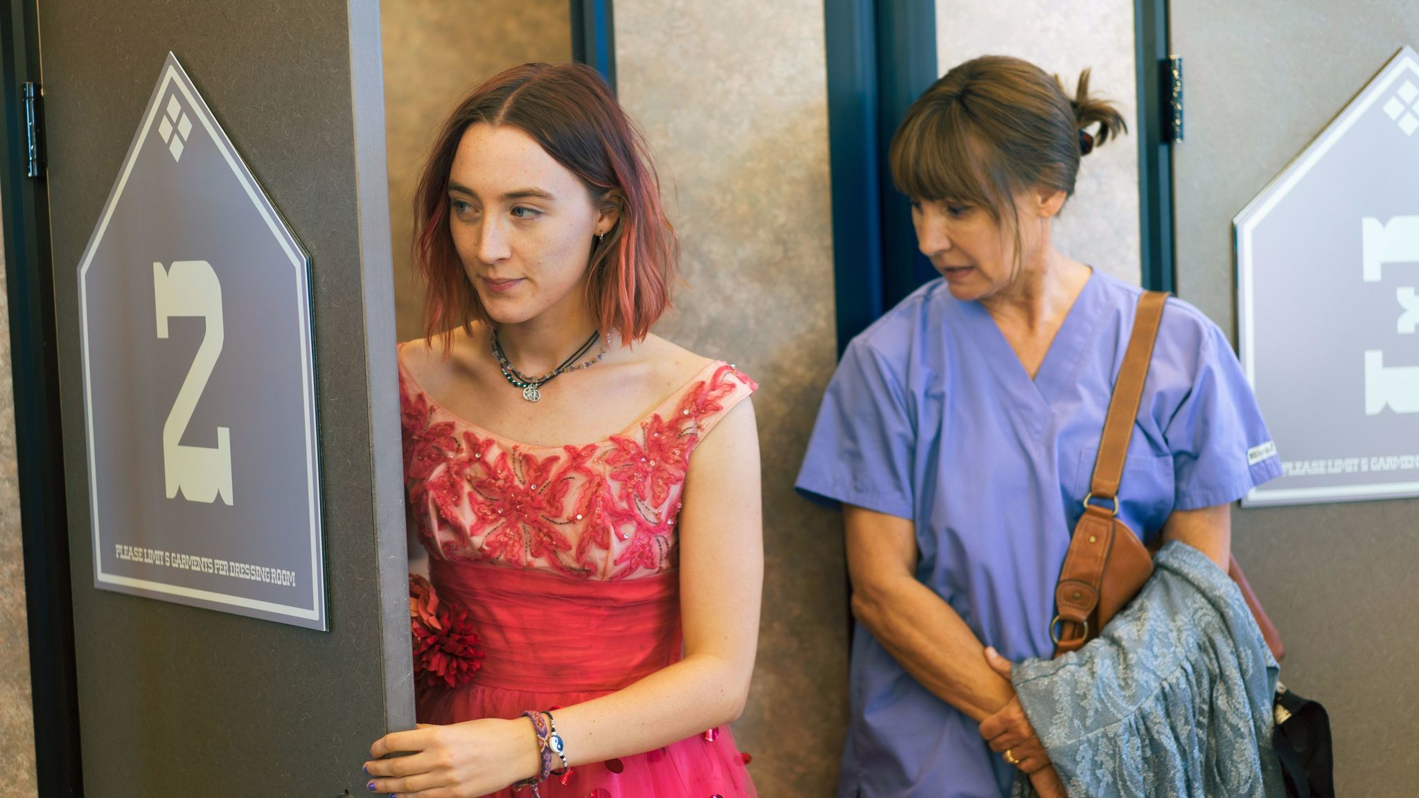 """Saoirse Ronan, left, and Laurie Metcalf in a scene from """"Lady Bird."""""""