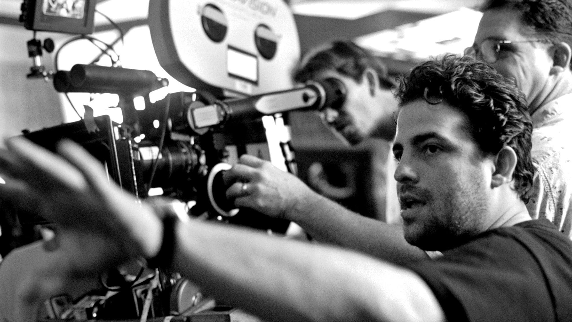 Director Brett Ratner on the set of