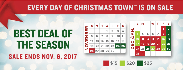 Holiday deal single day tickets to busch gardens - Busch gardens christmas town prices ...