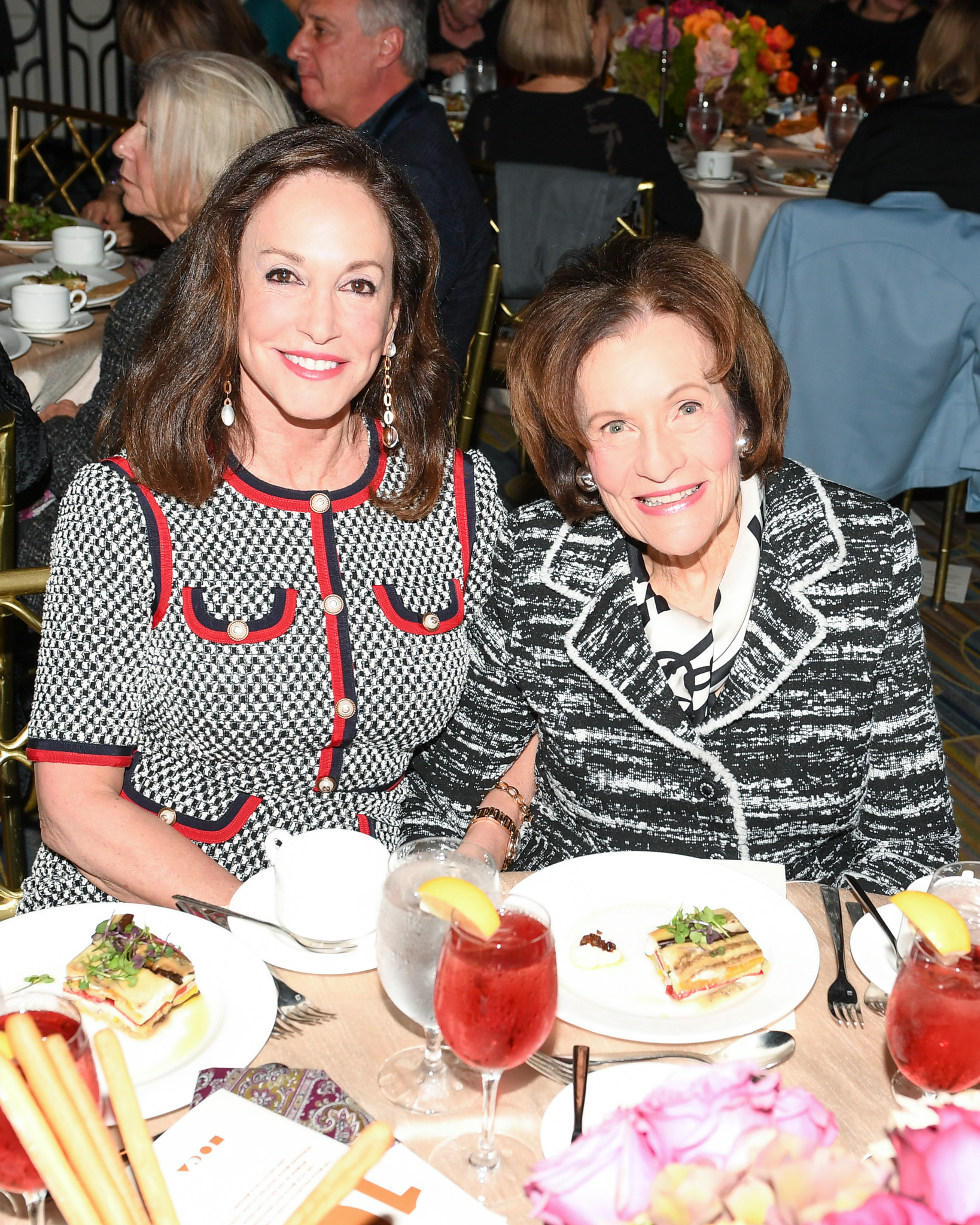 Lilly Tartikoff Karatz and Edythe Broad at MOCA's Distinguished Women in the Arts luncheon.