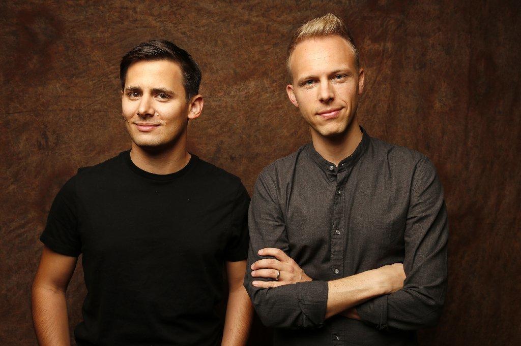 Songwriters Benj Pasek and Justin Paul. (Al Seib / Los Angeles Times)