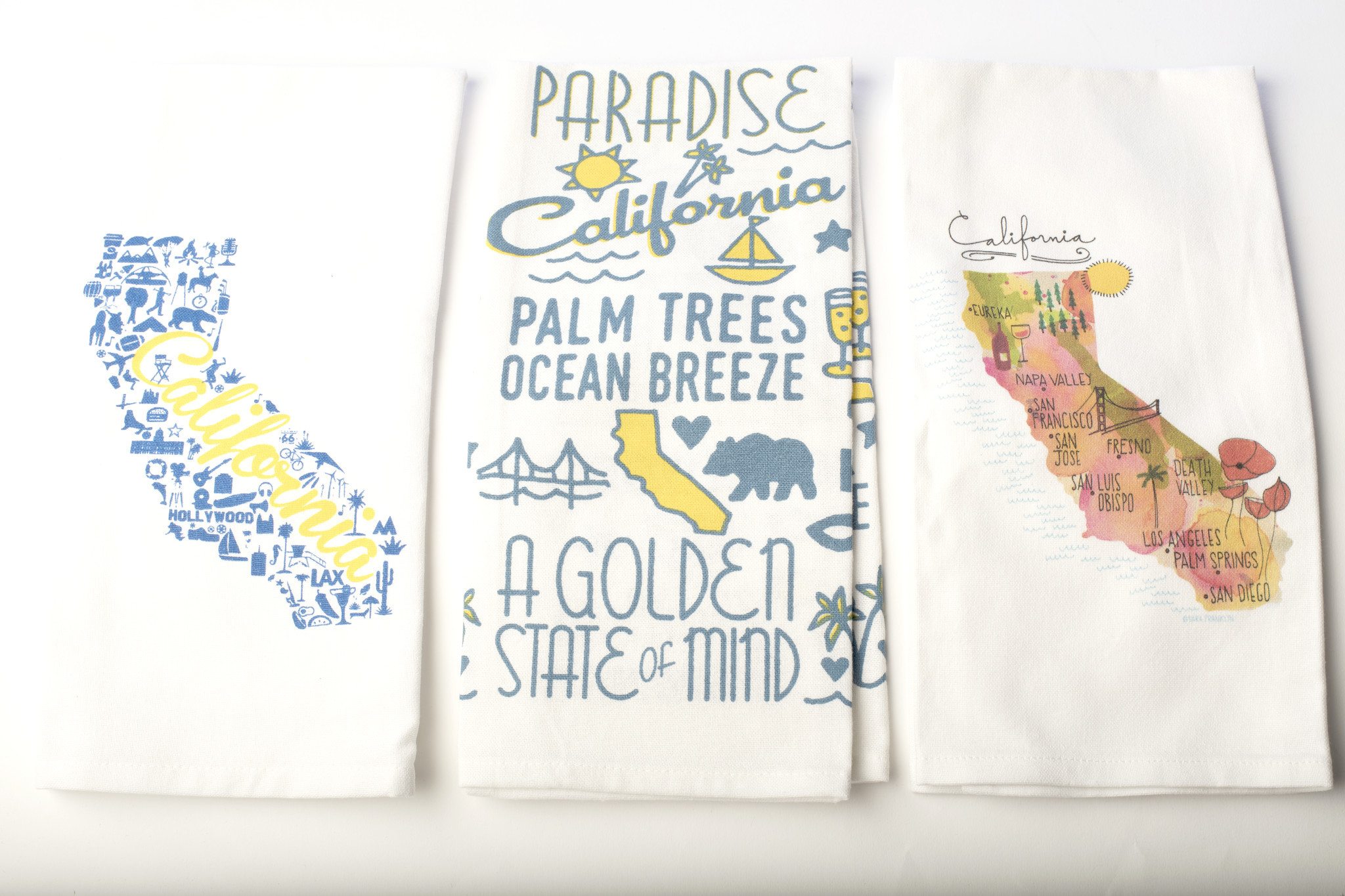 CALIFORNIA TOWELS Think of these towels as a hostess gift — or a little something to send to your