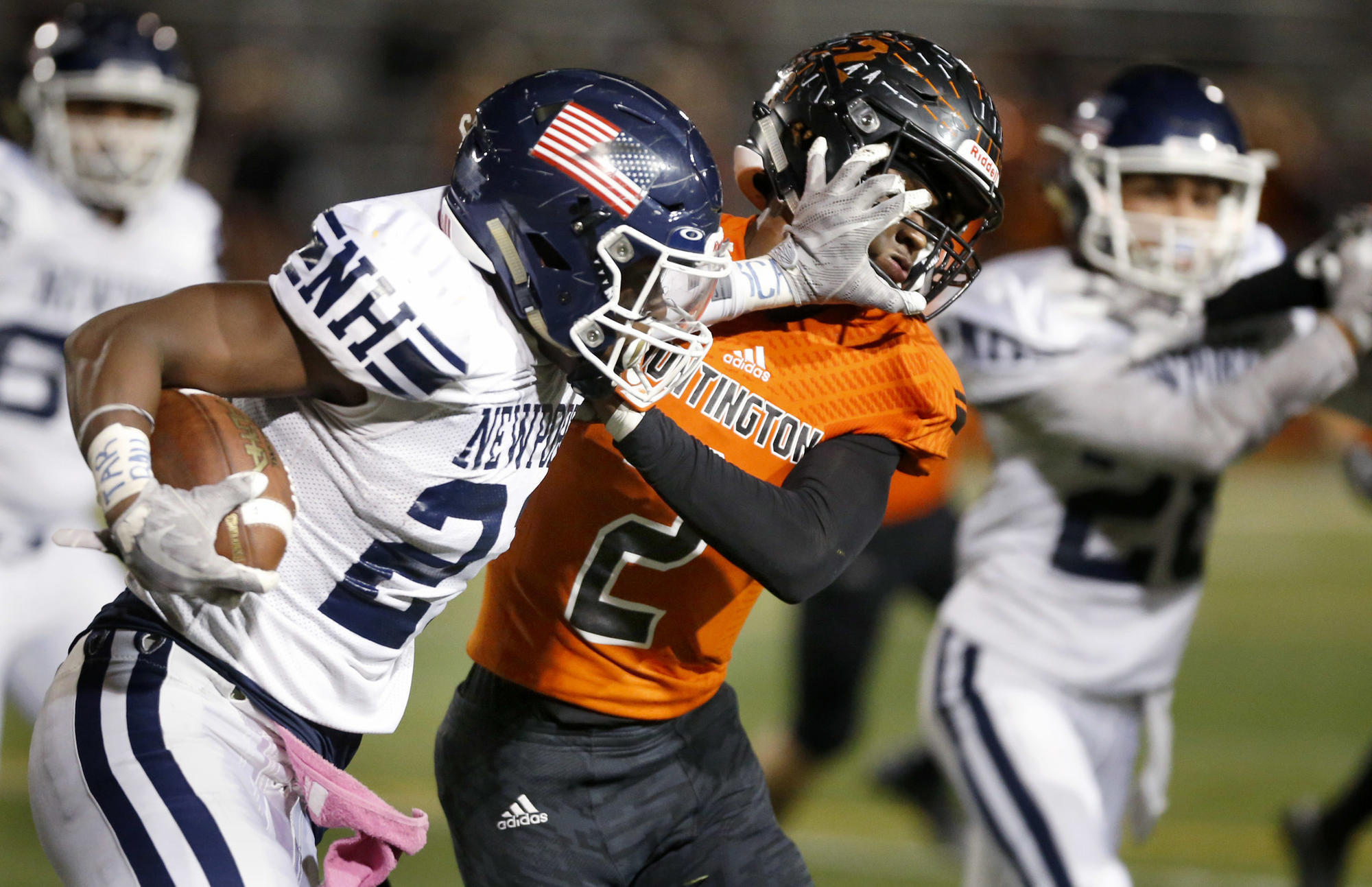 fd202c36d The Newport Harbor High football team did not have its head coach for the  second half of its biggest win of the season. Jeff Brinkley