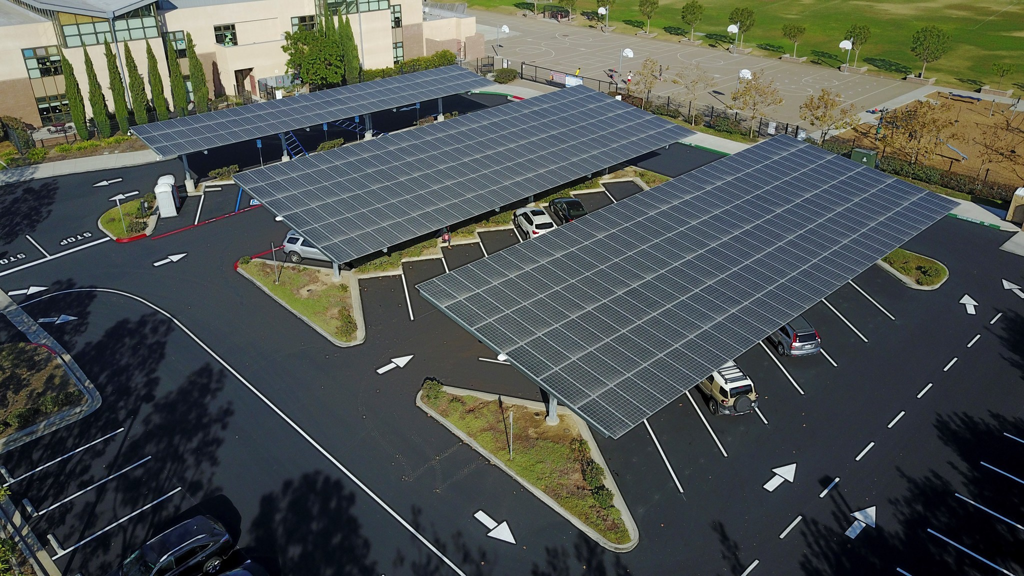 The new solar panels at Solana Pacific.