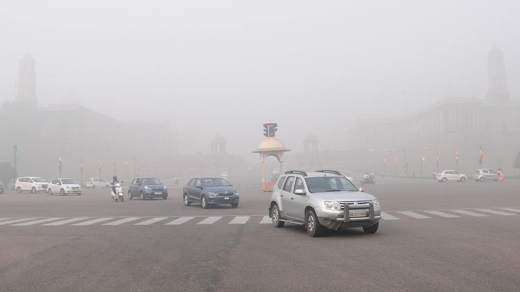 New Delhi struggles with heavily polluted air, India - 07 Nov 2017