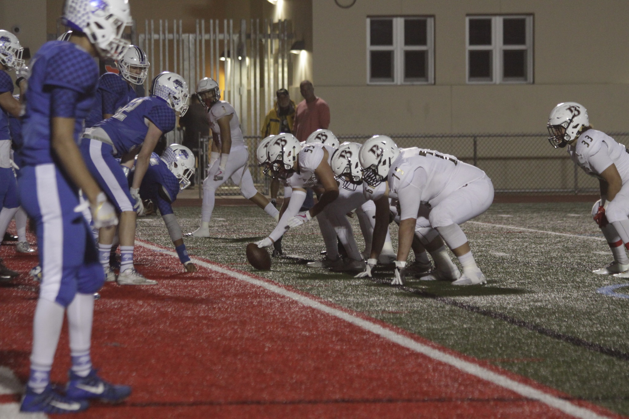 The Torreys defense holds the Knights to within a few feet of the end zone ...