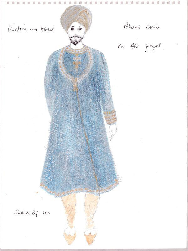 """Sketches of costumes from """"Victoria and Abdul."""""""