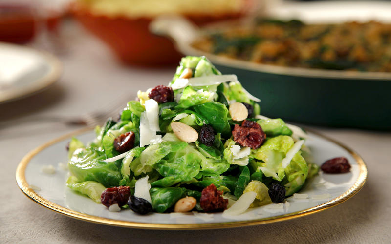 Brussels sprout salad with mustard vinaigrette