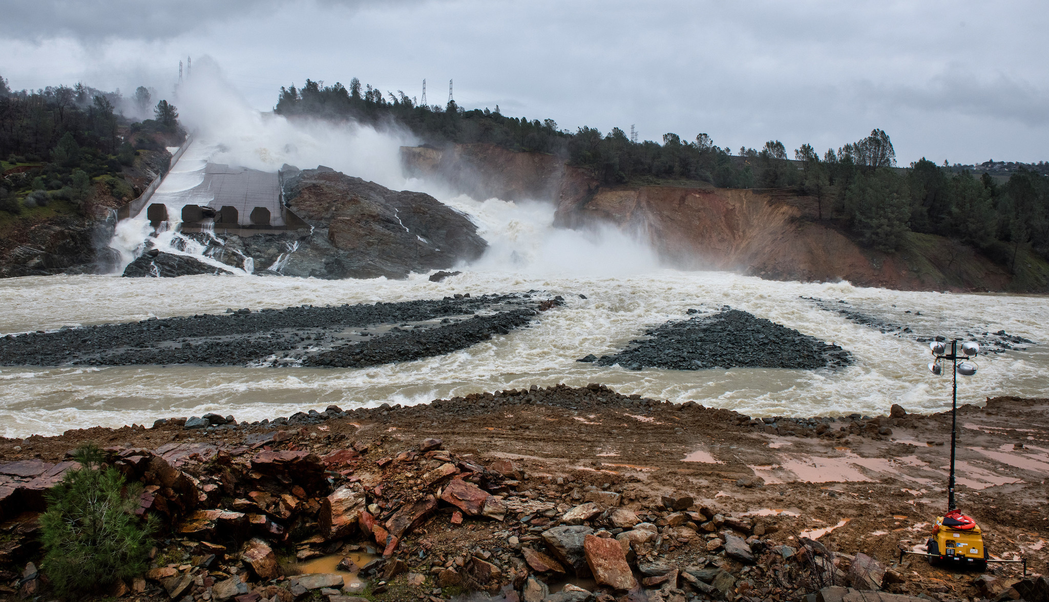 The spillway on Feb. 20.