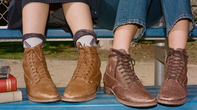 Using a school boot from the 1930s as a jumping off point, designers Emily Current and Meritt Elliott of clothing label the Great launched their first shoe, the Boxcar boot.