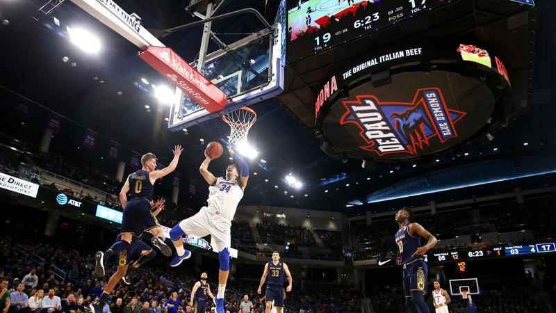 Exterior: DePaul Stumbles In Wintrust Arena Debut With 72-58 Loss To