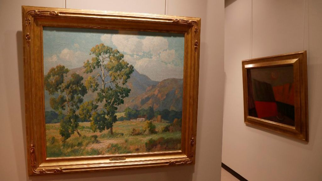 Buck began by collecting so-called California Impressionism, such as Maurice Braun's undated