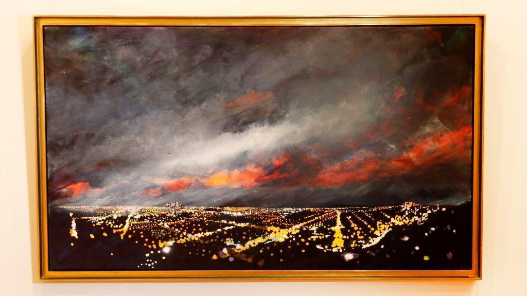 "Peter Alexander, ""Thrasher,"" 1992, oil on canvas."