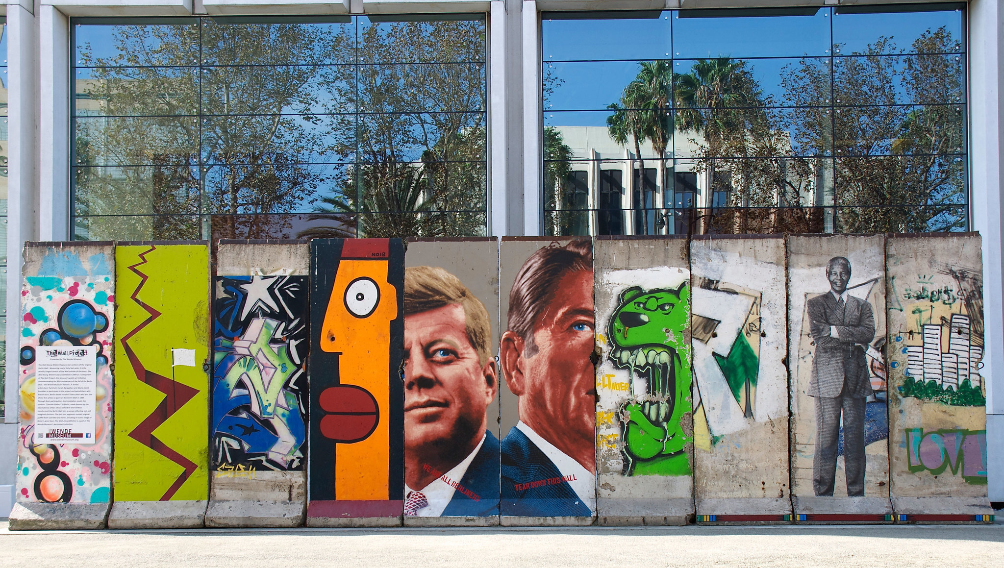 Berlin wall fragments in Los Angeles