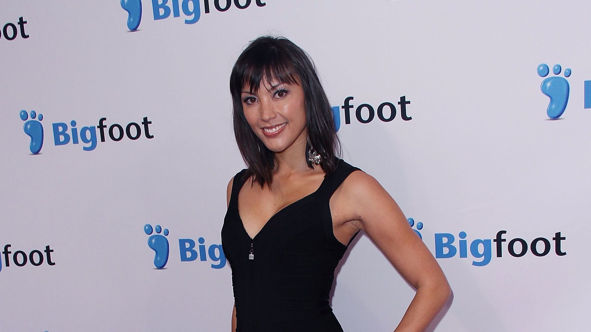 """Actress Jaymee Ong arrives at the 2011 premiere of """"Deep Gold"""" in Westwood."""