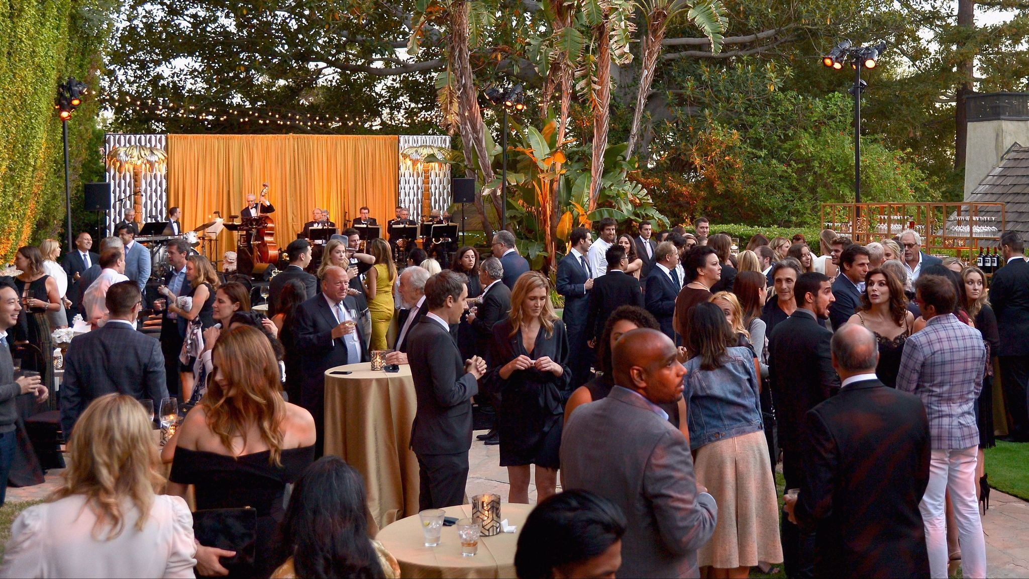 Guests attend an event for United Nations Secretary-General Ban Ki-moon co-hosted by Brett Ratner at his home, Hilhaven Lodge, in 2016.
