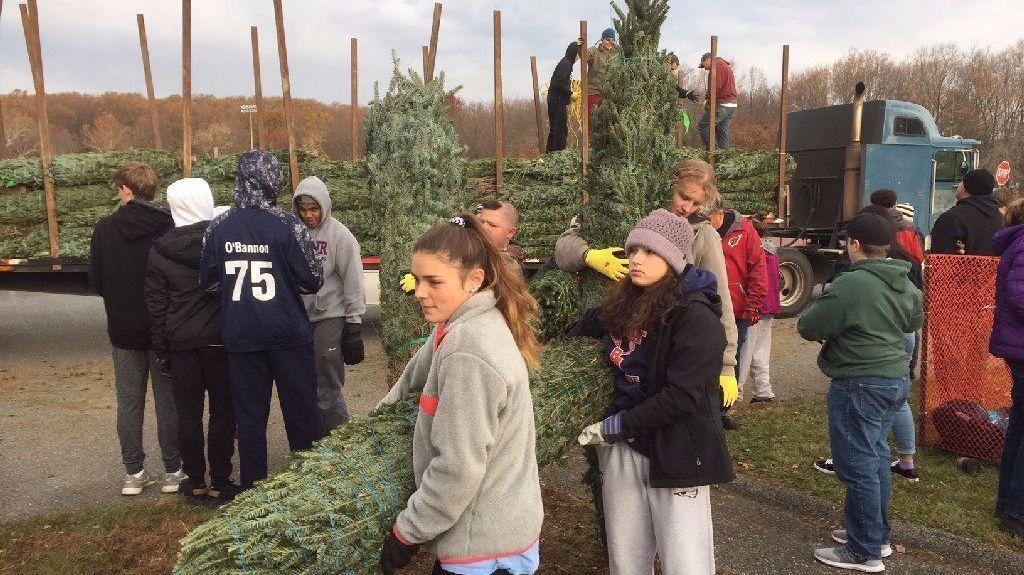 Bel Air Lions Kick Off Holiday Season With Christmas Tree