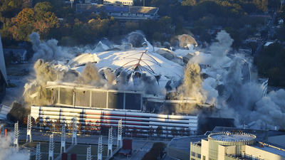 5,000 pounds of explosives used to implode Georgia Dome in Atlanta