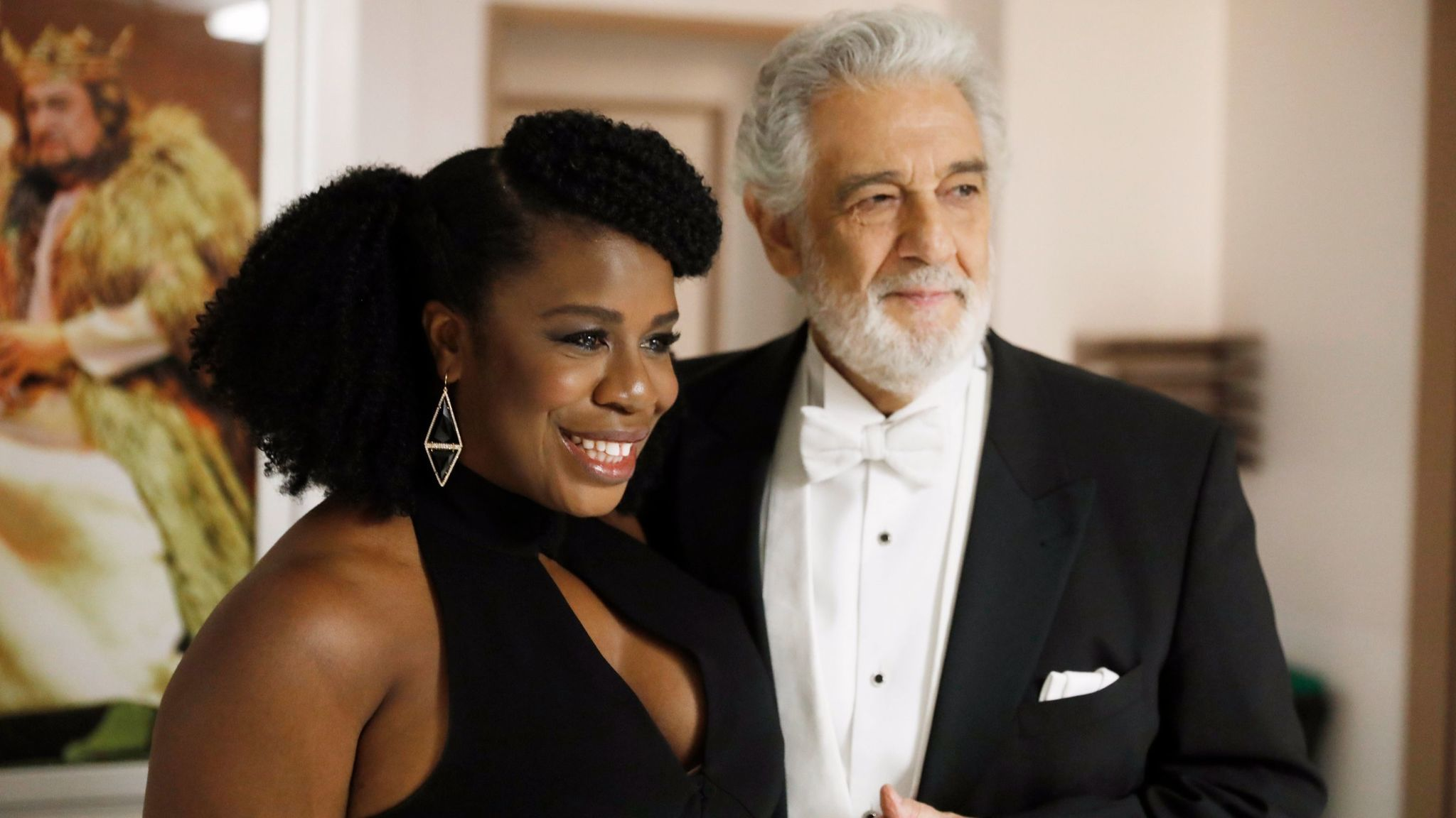 Uzo Aduba with Plácido Domingo