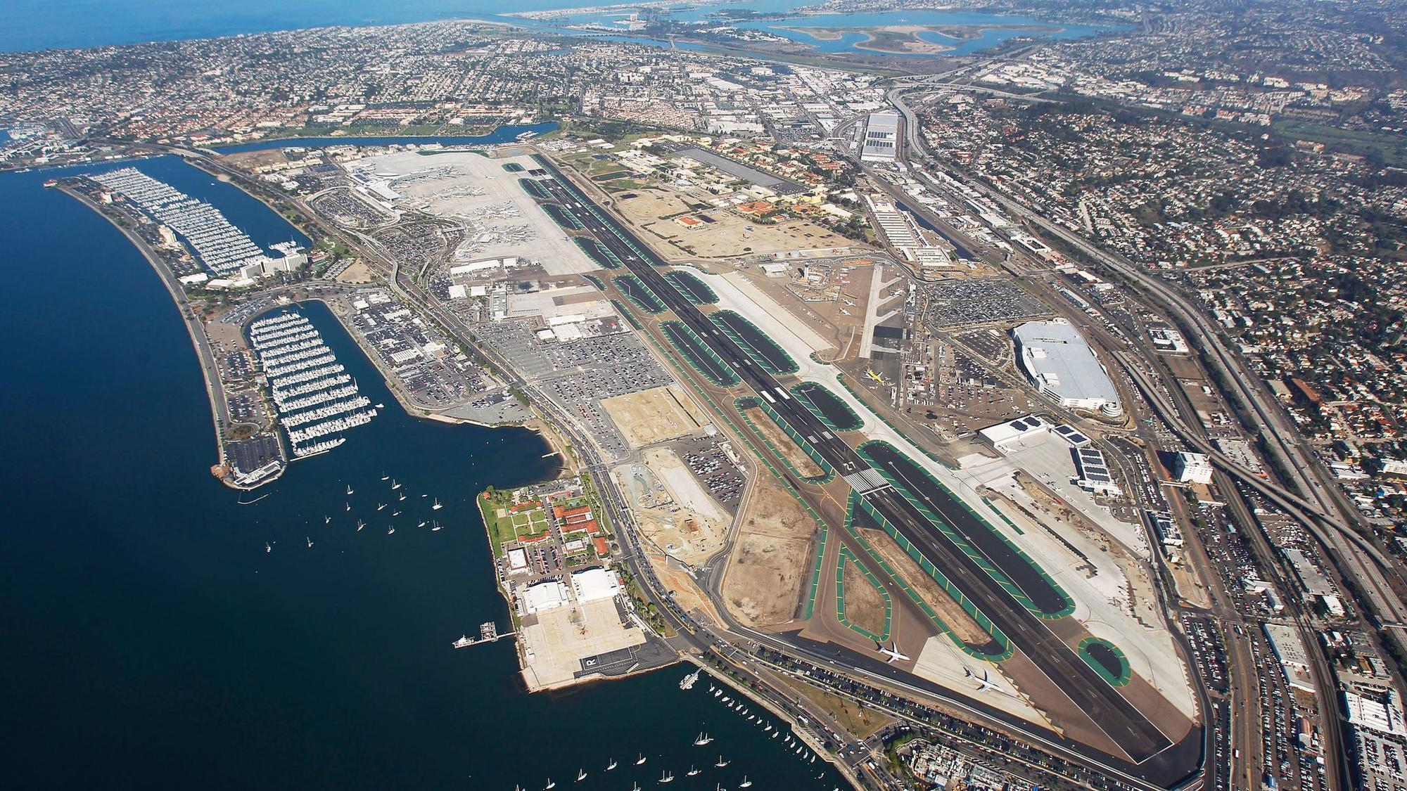 san diego int'l airport will dig up the runway every night for a