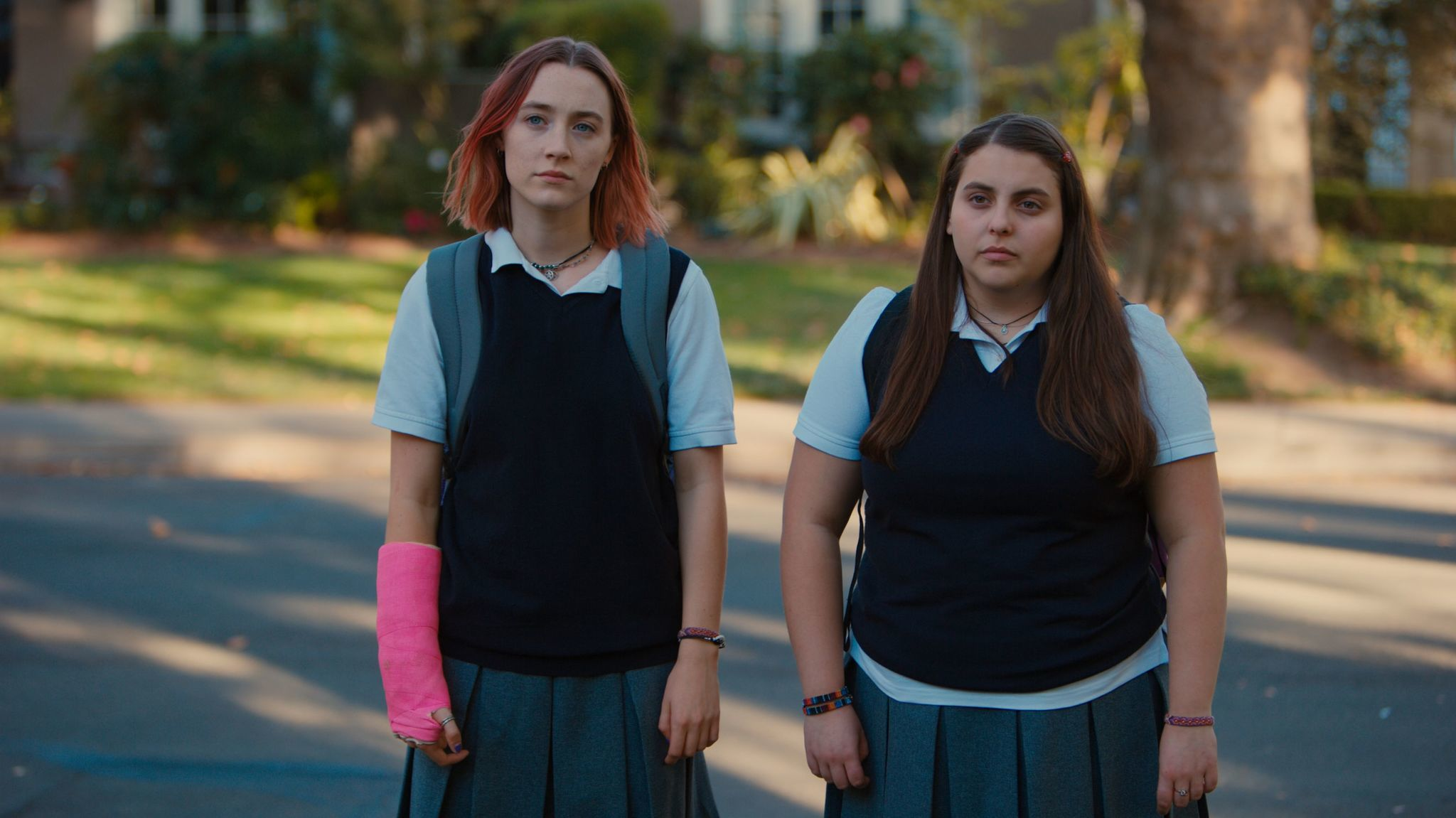 Ronan, left, and Beanie Feldstein grew exceptionally close while filming