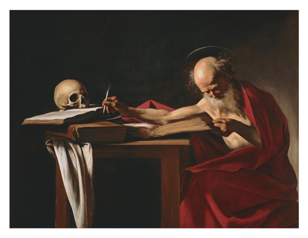Saint Jerome by Caravaggio