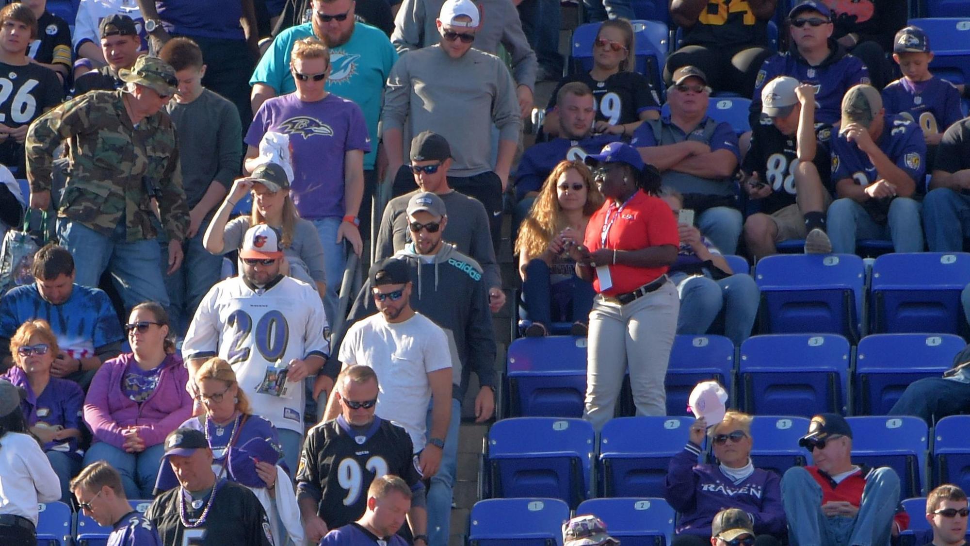 850bbafbd25 Ravens, NFL scramble as fans stay home - Baltimore Sun