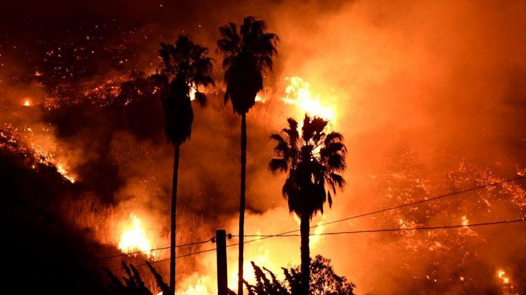 Southern California Fires Photos Video Capture Flames